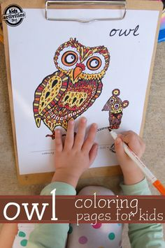 Owl coloring pages for kids  Pinned by www.myowlbarn.com