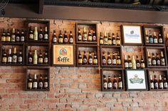 Cafe Bar, Pub Bar, Beer Bar, Bar Interior, Bar Americano, Mini Bar At Home, Container Bar, Indoor Bar, Bottle Display