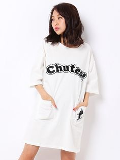 """WORLD WIDE LOVE! (Worldwide Love) Rydia / Kobi meow side pocket dress. NOTE: The French word """"chutes"""" means """"falls"""""""