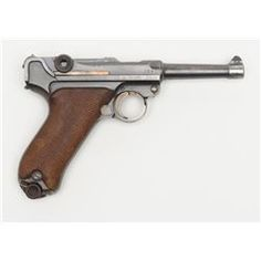 German Luger semi-auto pistol by Erfurt Royal Arsenal dated 1913 on top of frame, post-war sear sa