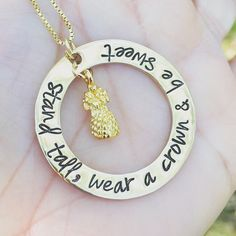 Pineapple Necklace, Stand Tall Wear A Crown and Be Sweet, Hawaiian Necklace , Birthday Gifts For Her, Natashaaloha