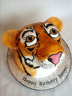 Tiger Head Cake