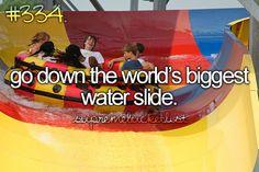 Go down the world's biggest water slide @ Schlitterbahn Waterparks and Resorts in Kansas City - www.huffingtonpost.com/2014/01/23/verruckt-tallest-waterslide-kansas-city_n_4653471.html / Bucket List Ideas / Before I Die