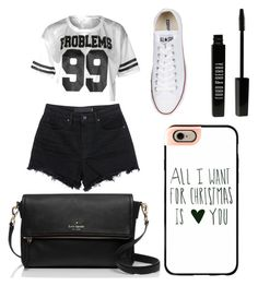 """Untitled #2"" by thalia-ast on Polyvore featuring Converse, T By Alexander Wang, Lord & Berry, Casetify and Kate Spade"