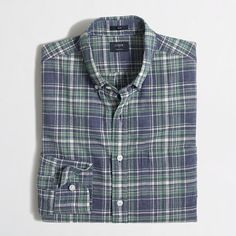 J.Crew+Factory+-+Factory+slim+plaid+homespun+shirt