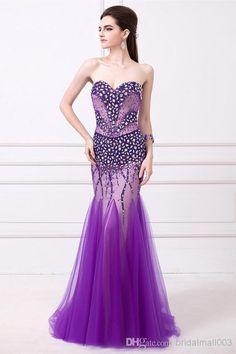 Wholesale Flower Girl Dress - Buy Beautiful 2014 Toyroyal Sexy Purple Mermaid Wedding Dresses Bridal Gowns Strapless Beautifully Modest Elegant Bridal Gown WYL14, $216.76 | DHgate