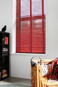 Luxaflex Piano Red with red tape www.luxaflex.co.uk/products/indoor/wood-blinds/ #blinds #red #valentine
