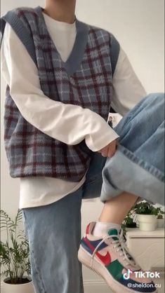Swag Outfits, Retro Outfits, Cute Casual Outfits, Fashion Outfits, Korean Street Fashion, Asian Fashion, Aesthetic Fashion, Aesthetic Clothes, Der Gentleman