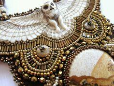 Snow Owl Bib Necklace by jenum24 on Etsy, $350.00