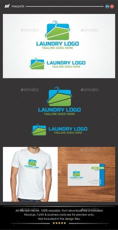 Laundry Service  - Logo Design Template Vector #logotype Download it here: http://graphicriver.net/item/laundry-service-logo/11561298?s_rank=1525?ref=nesto