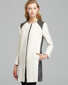 DKNYC Collarless Coat