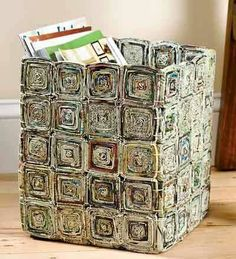 Diy paper recycle newspaper basket 36 Ideas for 2019 Recycle Newspaper, Newspaper Basket, Newspaper Crafts, Recycled Paper Crafts, Recycled Magazines, Diy Crafts, Recycled Magazine Crafts, Handmade Crafts, Handmade Rugs