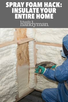Expanding spray foam can be an incredible tool to insulate your home. Discover these different types and applications of spray foam to use around the house. Home Insulation, Spray Foam Insulation, Home Renovation, Home Remodeling, Diy Home Repair, Home Repairs, Home Improvement Projects, Clinton Foundation, Home Fix