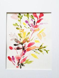 Peinture aquarelle fleur abstraite peinture florale