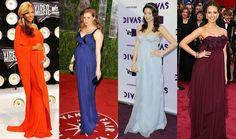 Corte imperio reina en alfombra roja Music Awards, One Shoulder, Formal Dresses, Fashion, Pregnancy, Short Dresses, Party Dresses, Red Carpet, Formal Gowns