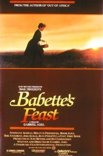 Iconic food movie..Babette prepares the feast of a lifetime for the members of the tiny church and an important gentleman related to one of them.