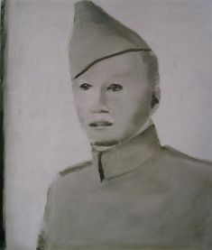 Soldier, 1999 by Luc Tuymans. New European Painting. portrait