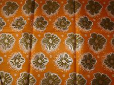 African Super Woodin Cotton Fabrics With Gold Lurex Print Sold By The Yard