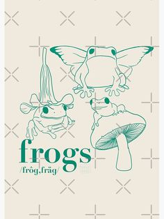 Frogs Poster by Artexagus