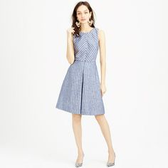 J.Crew - Chevron-striped dress