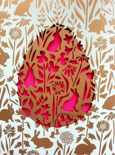 Layered Easter egg papercut