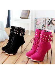 780d9652d526 Choose Cheap High Heel Leather Boots   Ankle Boots with Heel at Shoespie.com