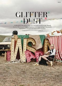 """Glitter Dust"" by Stephan Glathe for L'Officiel Switzerland"
