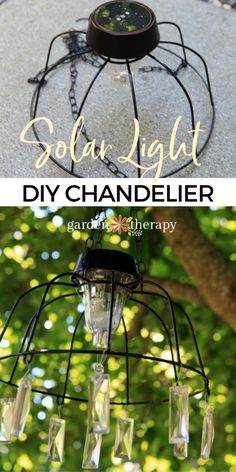Solar Light Chandelier, Outdoor Chandelier, Chandelier Lighting, Chandelier Crystals, Decorative Chandelier, Solar Lamp, Diy Solar, Solar Light Crafts, Solaire Diy