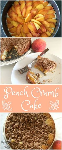 Improv Challenge: Peach Crumb Cake | fresh peaches, light airy cake and delicious crumb toppings