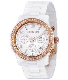 Michael Kors MK5269 Women's White Ceramic Chronograph Watch