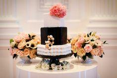 Coco Chanel inspired wedding / bridal shower cake