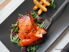 Simple and fast to make grilled salmon with honey miso glaze