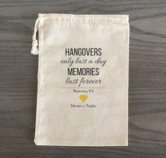 10 Wedding Favors Bachelorette Party Favor Hangover by AlfandNoop