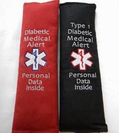 Medical Alert Seat Belt Seat Belt Cover by SewGoodbyDolores