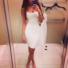 White tight dresses ♥️