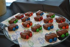 Cute candy cars at a Transportation Party #transportation #partycandy