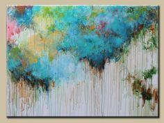 Grand art abstrait de peinture abstraite Résumé par artbyoak1, $499.00