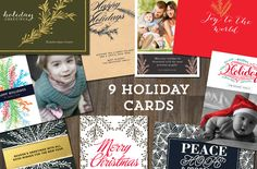 9 Holiday Cards Templates by aticnomar on Creative Market