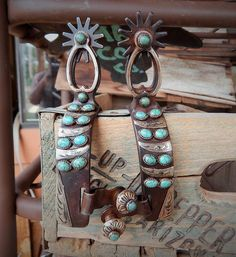 The Mad Cow Company Unique Western Rustic Jewelry and Spurs Western, Cowboy Spurs, Cowboy Gear, Western Wear, Cowboy Hats, Cowgirl Bling, Cowgirl Jewelry, Rustic Jewelry, Turquoise Rings
