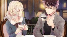 Riku and Yui having tea Diabolik Lovers