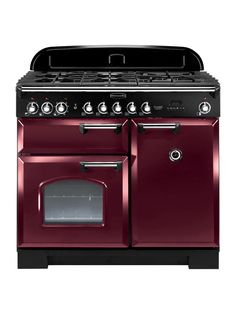 Buy a used Rangemaster 92510 Classic Deluxe Dual Fuel Range Cooker Cranberry. ✅Compare prices by UK Leading retailers that sells ⭐Used Rangemaster 92510 Classic Deluxe Dual Fuel Range Cooker Cranberry for cheap prices. Cuisinières Vintage, Vintage Design, Foyers, Dual Fuel Range Cookers, Gas Cookers, Domestic Appliances, Fired Earth, Foyer