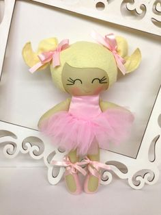 Ballerina Handmade Doll Fabric Dolls Soft Dolls by SewManyPretties, $48.00 #ballerina #girlgift #ballerinaparty