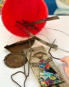 Work in progress! Using lots of wonderful Found Objects! #art #folkartist #outsiderart #artwork #wip #dailyart #charlestonartist #creativereuse #recycle #repurposed #makers #creators #mixedmedia #workingartist www.DeaneVBowersArt.com