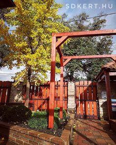 * Csináld magad kertépítés *: Kertépítés, kerttervezés ÖTLETEK Pergola, Arch, Outdoor Structures, House Styles, Garden, Instagram, Home Decor, Longbow, Garten