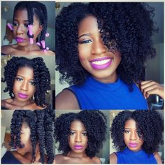 «Pictorial on how I did my braid n curl I've been rocking in the last few pics. I told you guys how I achieved but I know it's always better when you see…»