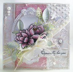 Shabby Chic OOAK Handmade Card