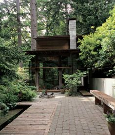 The Remainder House: A Reclaimed Wood House on Bowen Island in British Columbia - Landhaus Cabins In The Woods, House In The Woods, My House, House In Nature, Bowen Island, British Columbia, Porches, Forest House, My Dream Home