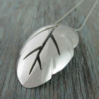 want!!  pendant made from an old silver spoon.