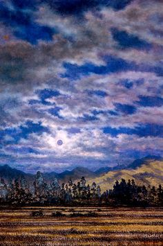 Eclipse del 12 de octubre - Gonzalo Ariza Landscape Paintings, Landscapes, American Art, Photography, October, Writing, Museums, Reading, Colombia