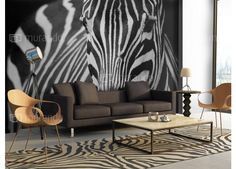 Fototapet - White with black stripes cm Interior Minimalista, Sketch Inspiration, Unique Art, Black Stripes, Animal Print Rug, Decoration, Wallpaper, Bed, Chic